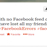 Reality Check: When Facebook Status Updates Goes down.